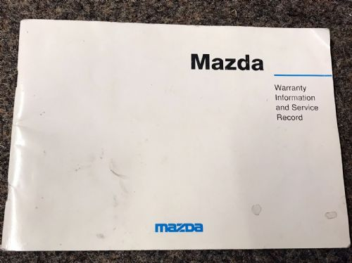 Service book, Mazda MX-5 mk1 1.8, 1993-94, MCAG760, USED
